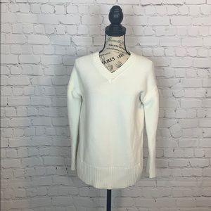 Everlane oversized white sweater size small